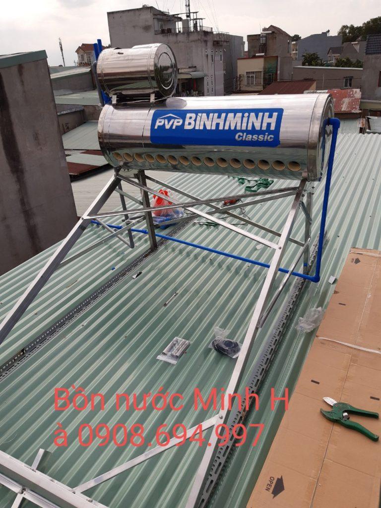 máy nước nóng năng lượng mặt trời bình minh 130l -Minh Hà